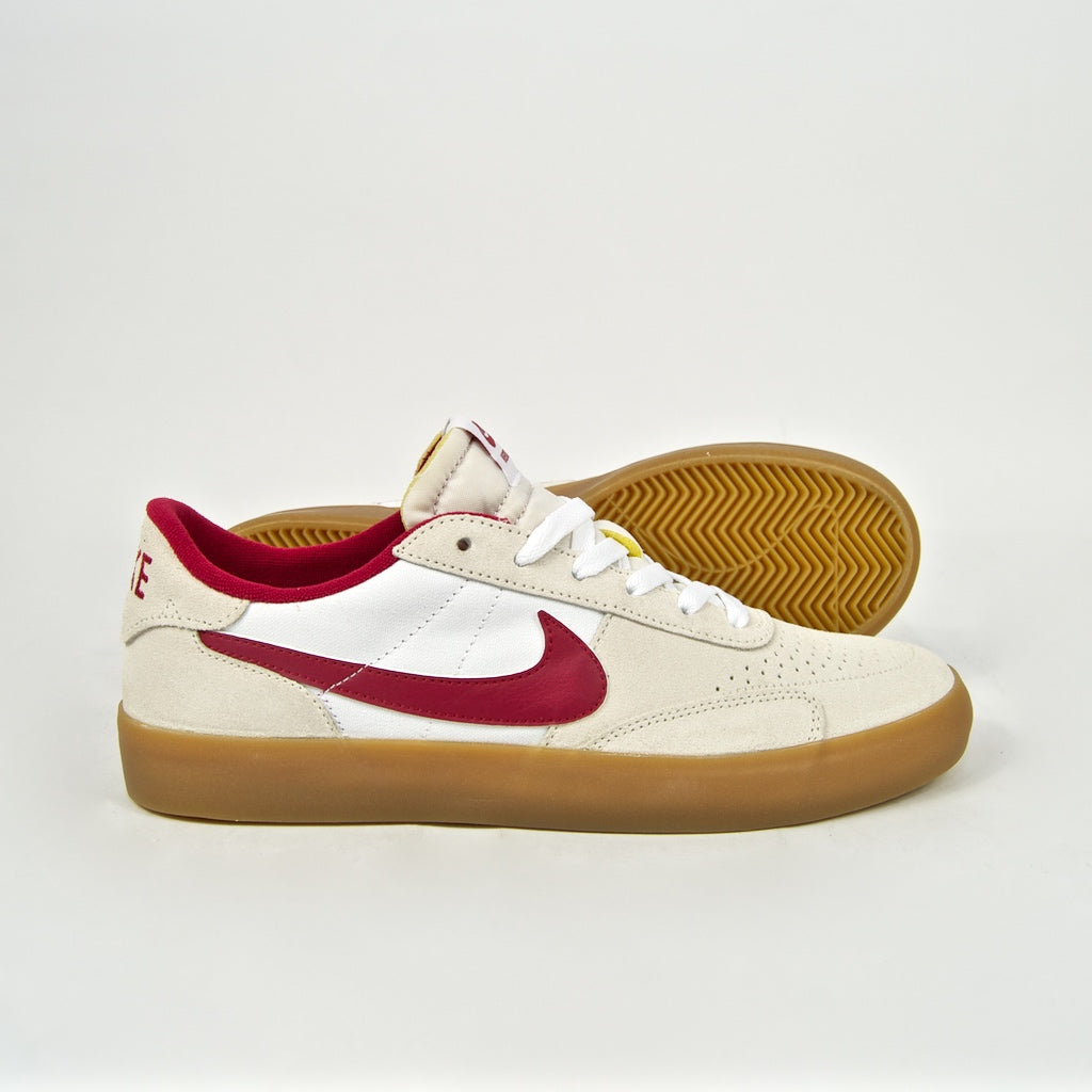 Nike SB - Heritage Vulc Shoes - Summit White / Cardinal Red / White