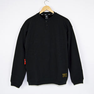 Nike SB - L.Baker Henley Fleece Sweatshirt Orange Label - Black