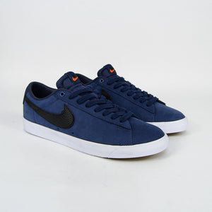 Nike SB - Orange Label GT Blazer Low ISO Shoes - Midnight Navy / Black - Midnight Navy