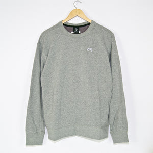 Nike SB - Skate Crewneck Sweatshirt - Grey Heather / White