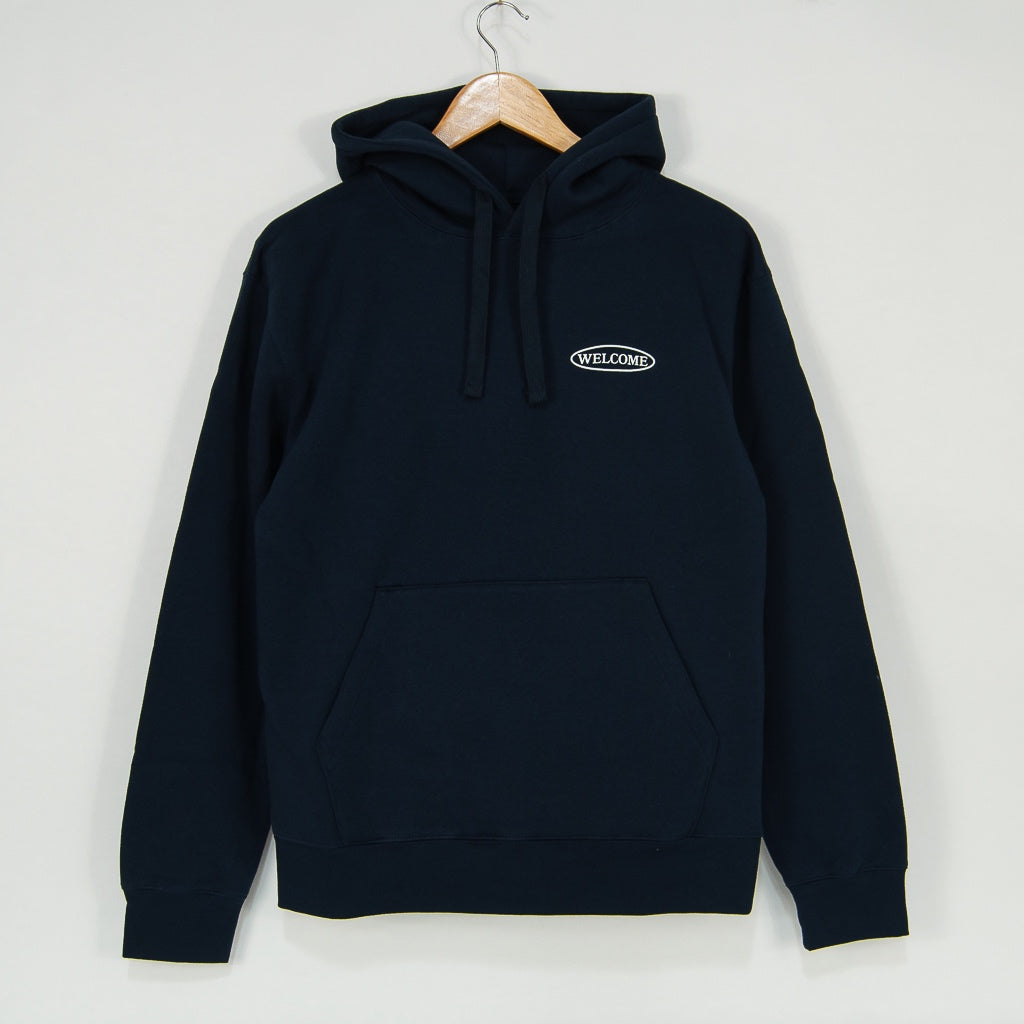 Welcome Skate Store - No Drama Pullover Hooded Sweatshirt - Navy