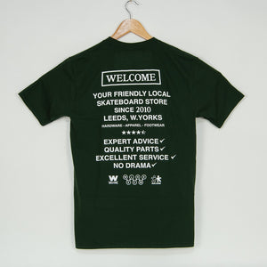 Welcome Skate Store - No Drama T-Shirt - Forest Green