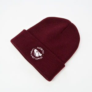 North Skate Mag - Supplies Beanie - Burgundy