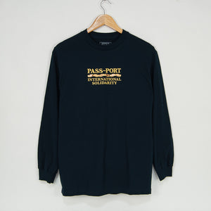Pass Port Skateboards - Inter Solid Longsleeve T-Shirt - Navy