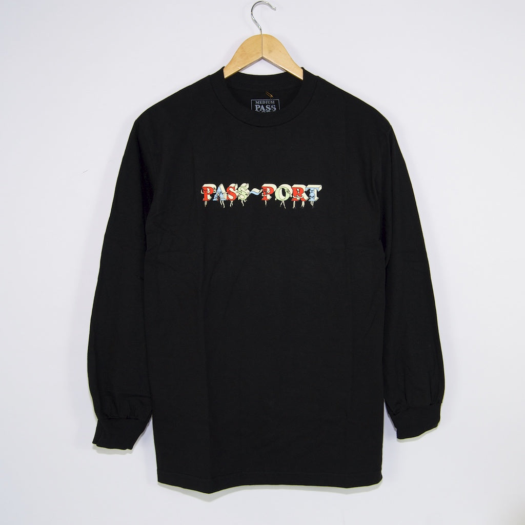 Pass Port Skateboards - PP Gang Longsleeve T-Shirt - Black