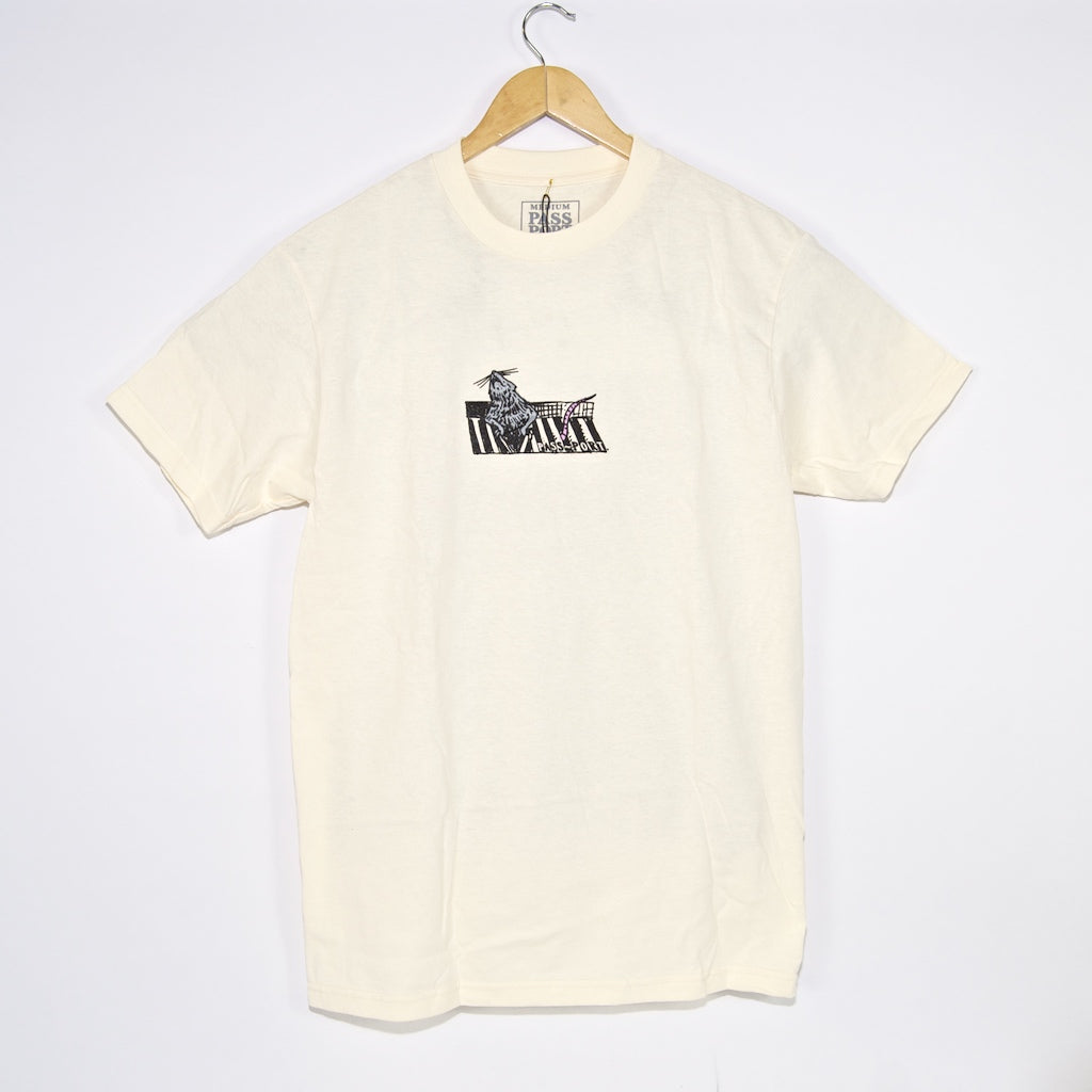 Pass Port Skateboards - Ratto T-Shirt - Cream