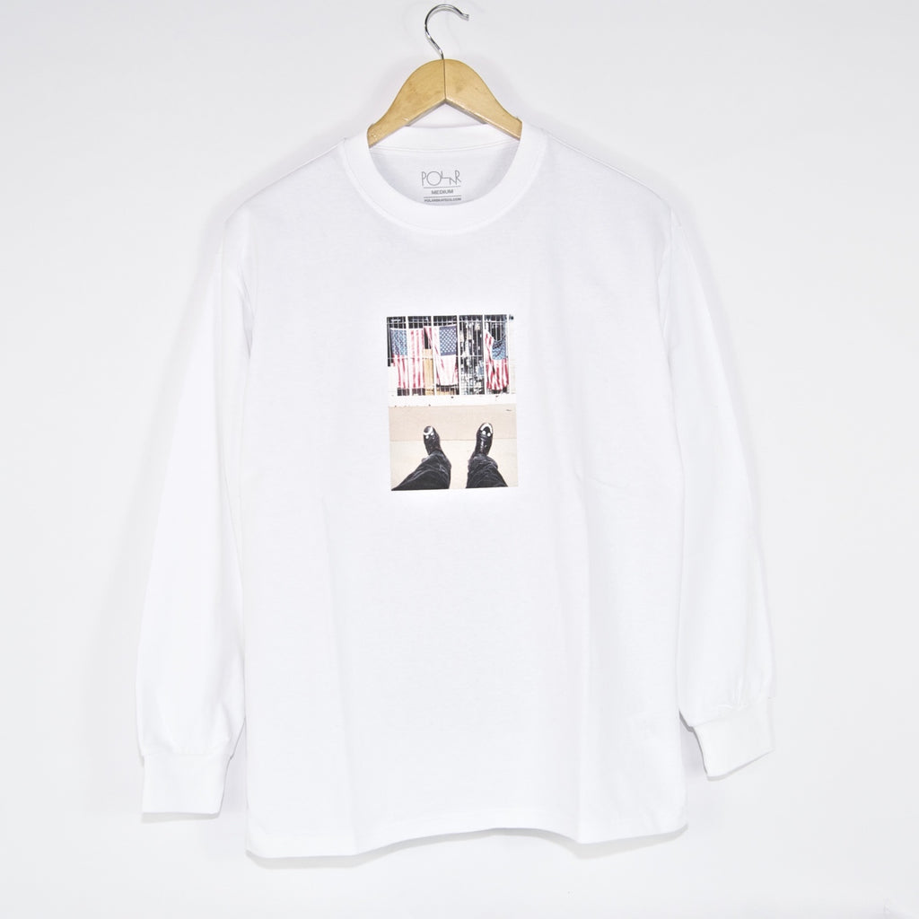 Polar Skate Co. - Happy Sad Around The World Longsleeve T-Shirt - White