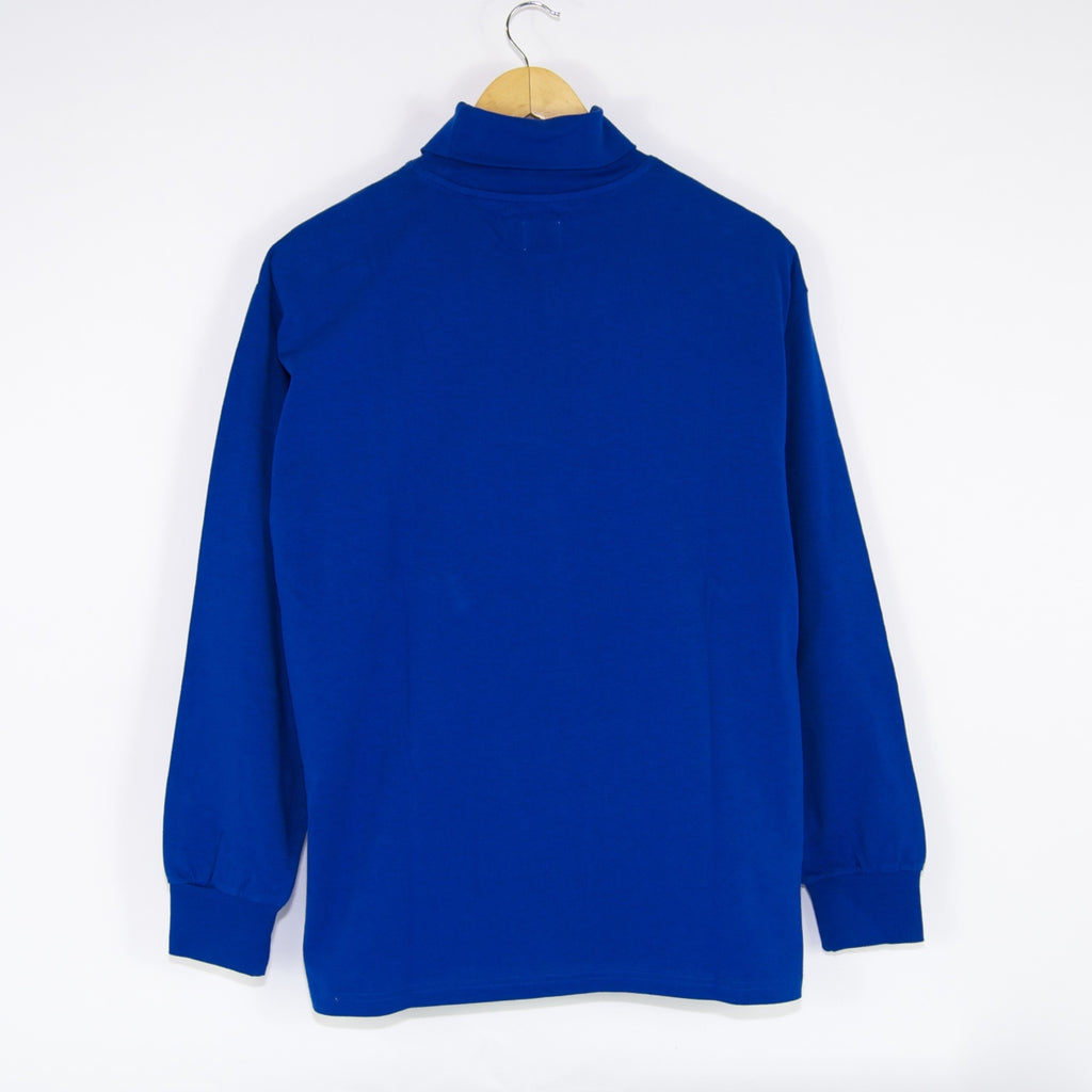 Polar Skate Co. - Script Turtleneck Embroidered Longsleeve T-Shirt - Egyptian Blue