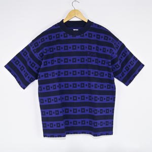 Polar Skate Co. - Square Stripe Surf T-Shirt - Navy / Purple