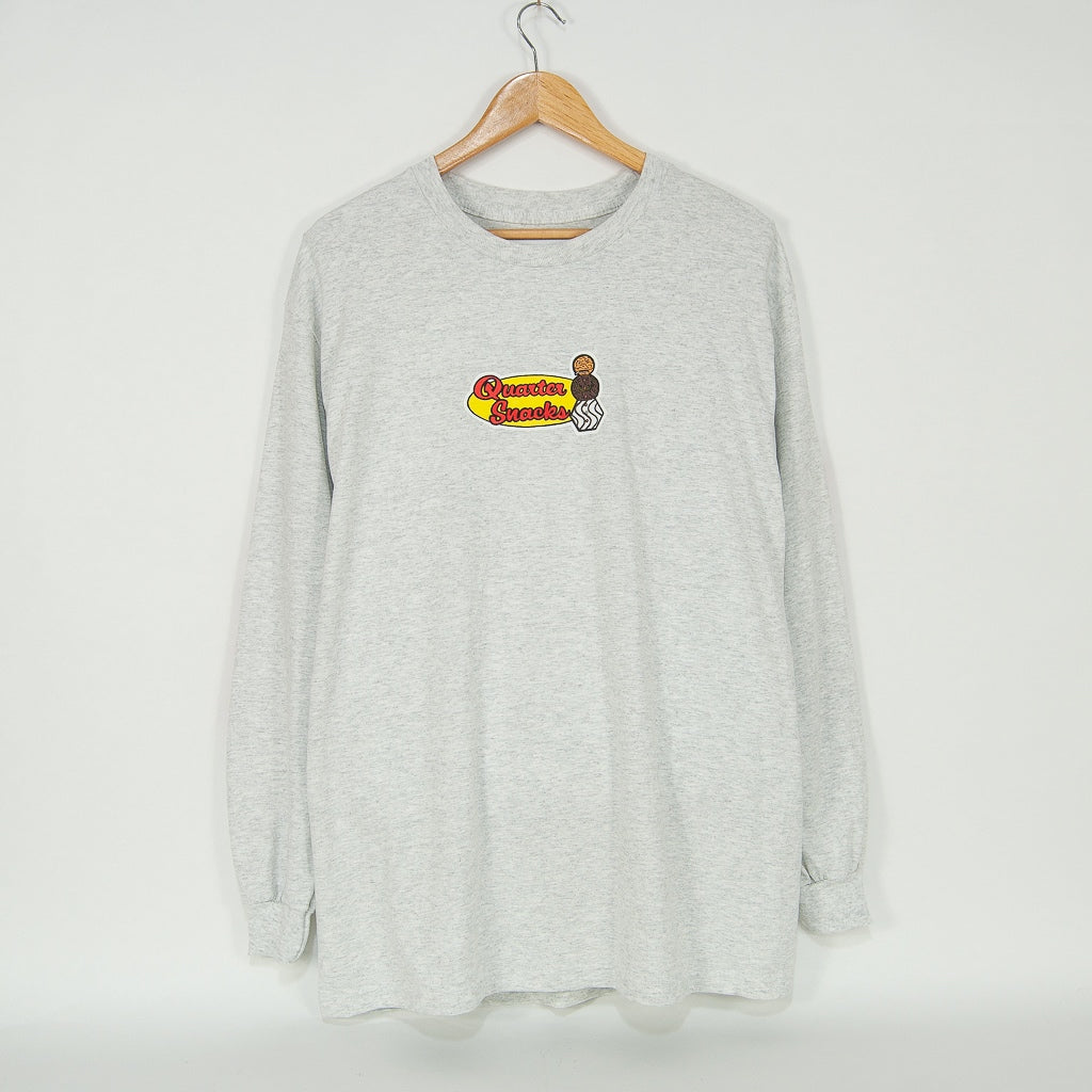 Quartersnacks - Middle School Longsleeve T-Shirt - Ash Grey