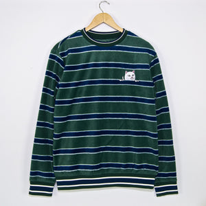Rip N Dip - Peeking Nermal Fleece Crewneck Sweatshirt - Hunter / Navy