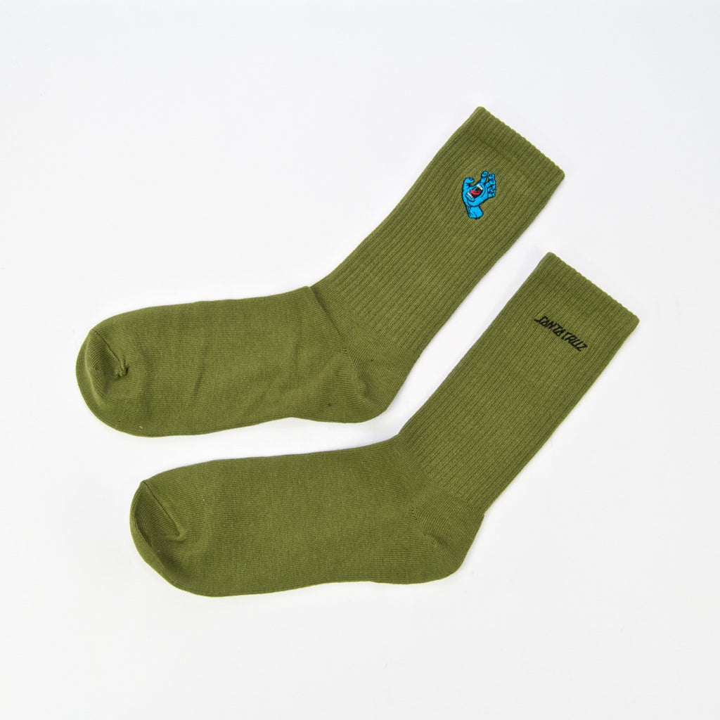 Santa Cruz - Mini Screaming Hand Socks - Sage
