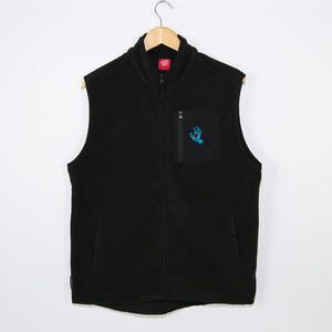Santa Cruz - Screaming Hand Polar Fleece Vest - Black
