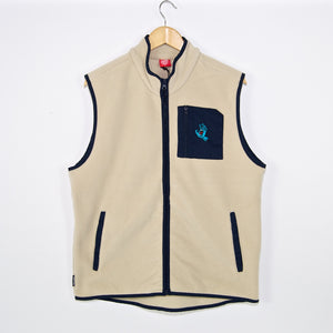 Santa Cruz - Screaming Hand Polar Fleece Vest - Off White