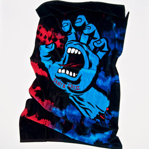 Santa Cruz - Screaming Hand Tie Dye Towel - Red / Blue