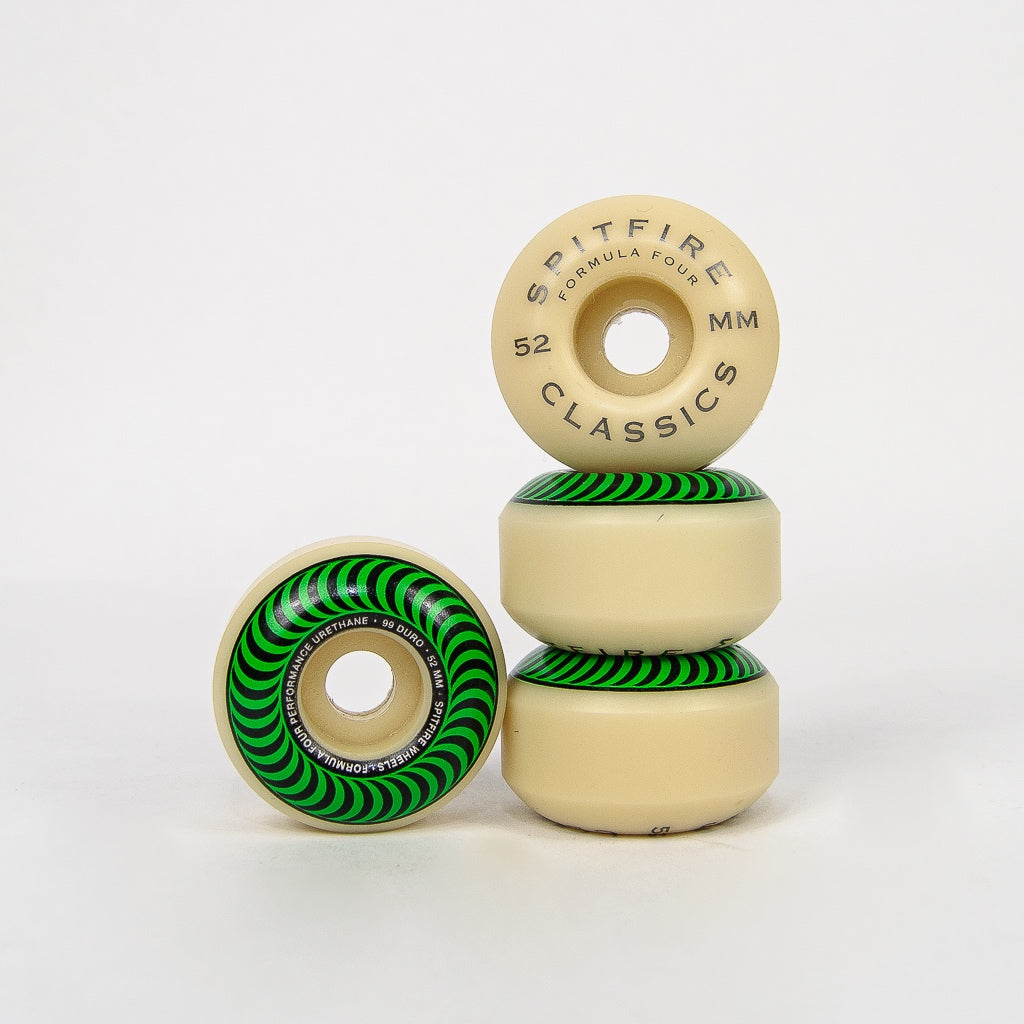 Spitfire - 52mm (99a) Formula Four Classics Skateboard Wheels (Green)