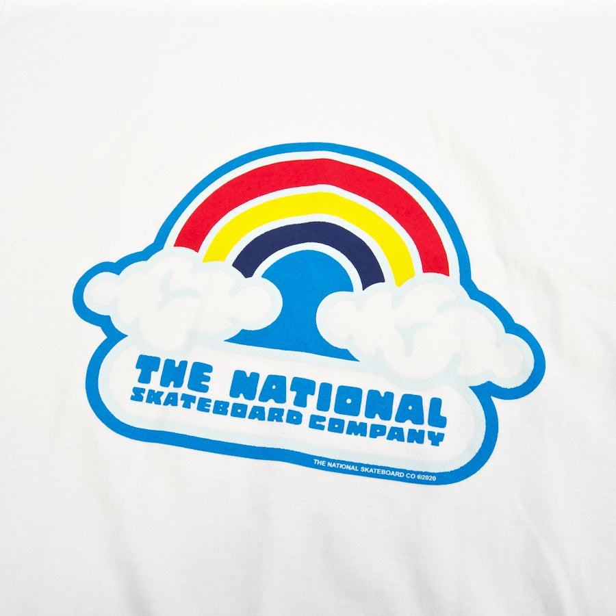 The National Skateboard Co. - Double Rainbow T-Shirt - White