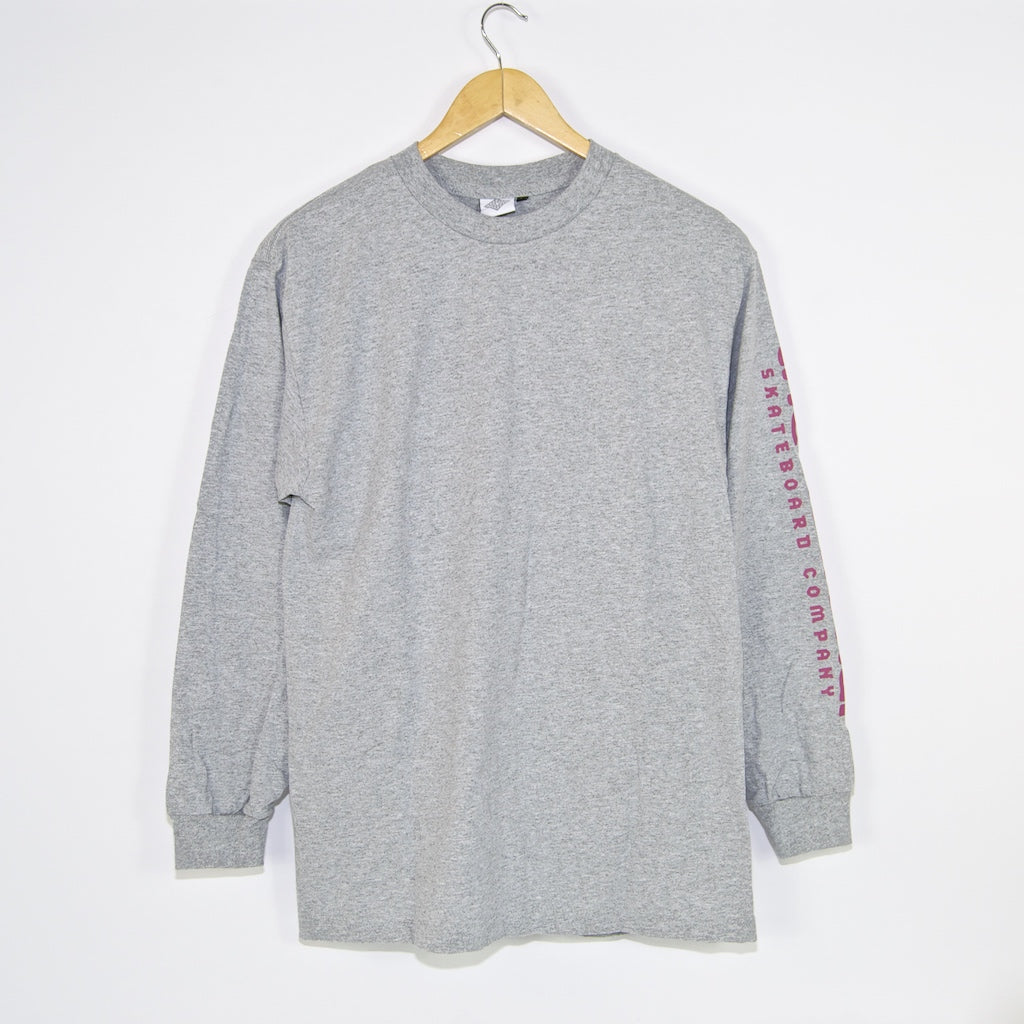 The National Skateboard Co. - Hook Up Longsleeve T-Shirt - Heather Grey