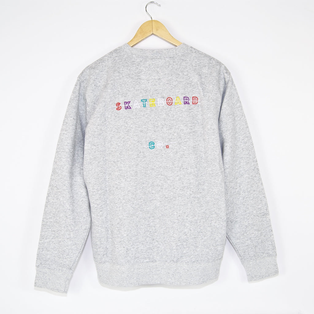 The National Skateboard Co. - Redacted Crewneck Sweatshirt - Heather Grey