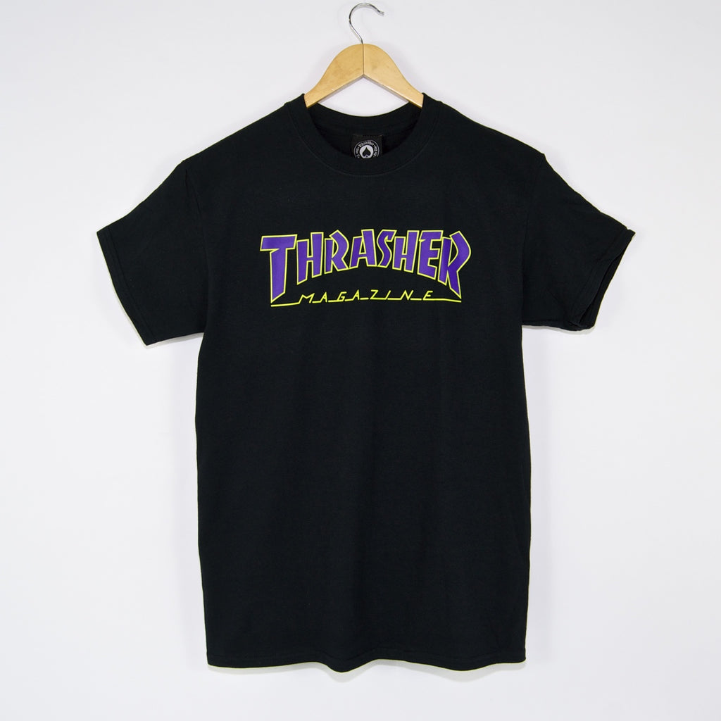 Thrasher - Outlined T-Shirt - Black / Purple