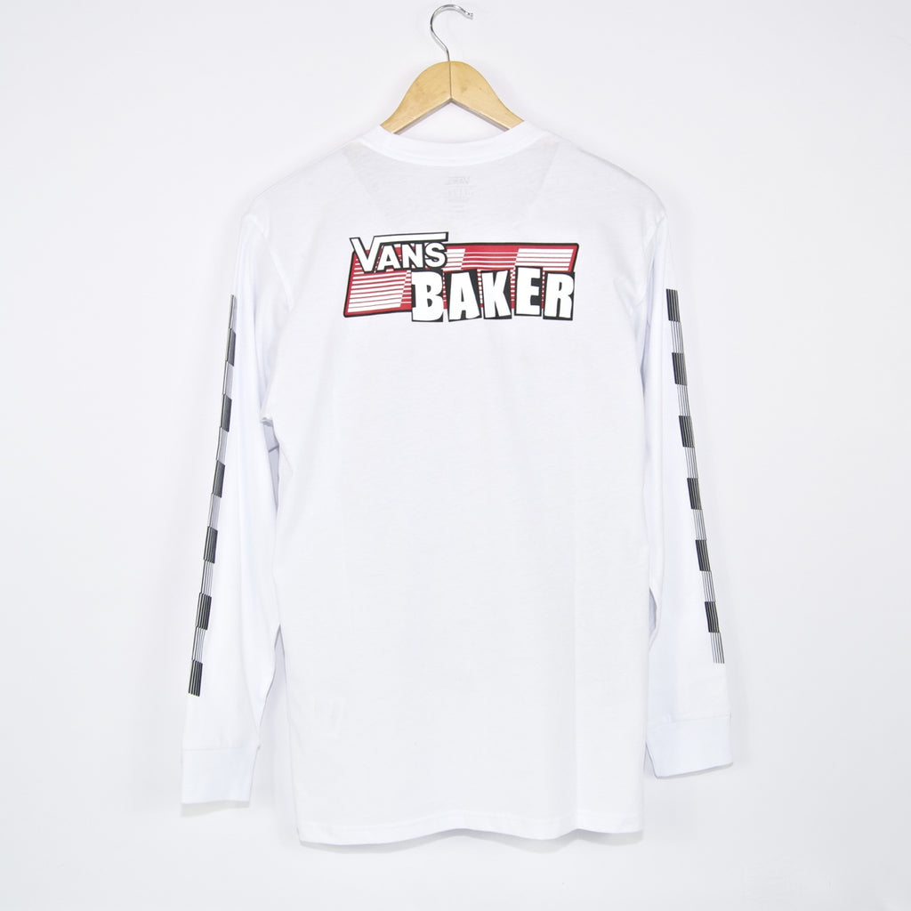 Vans - Baker Speed Check Longsleeve T-Shirt - White