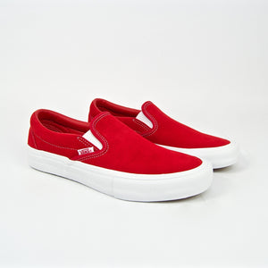 Vans - Slip On Pro Shoes - Red / White