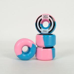 Welcome Skateboards - 52mm (99a) Orbs Apparitions Splits Wheels - Pink / Blue
