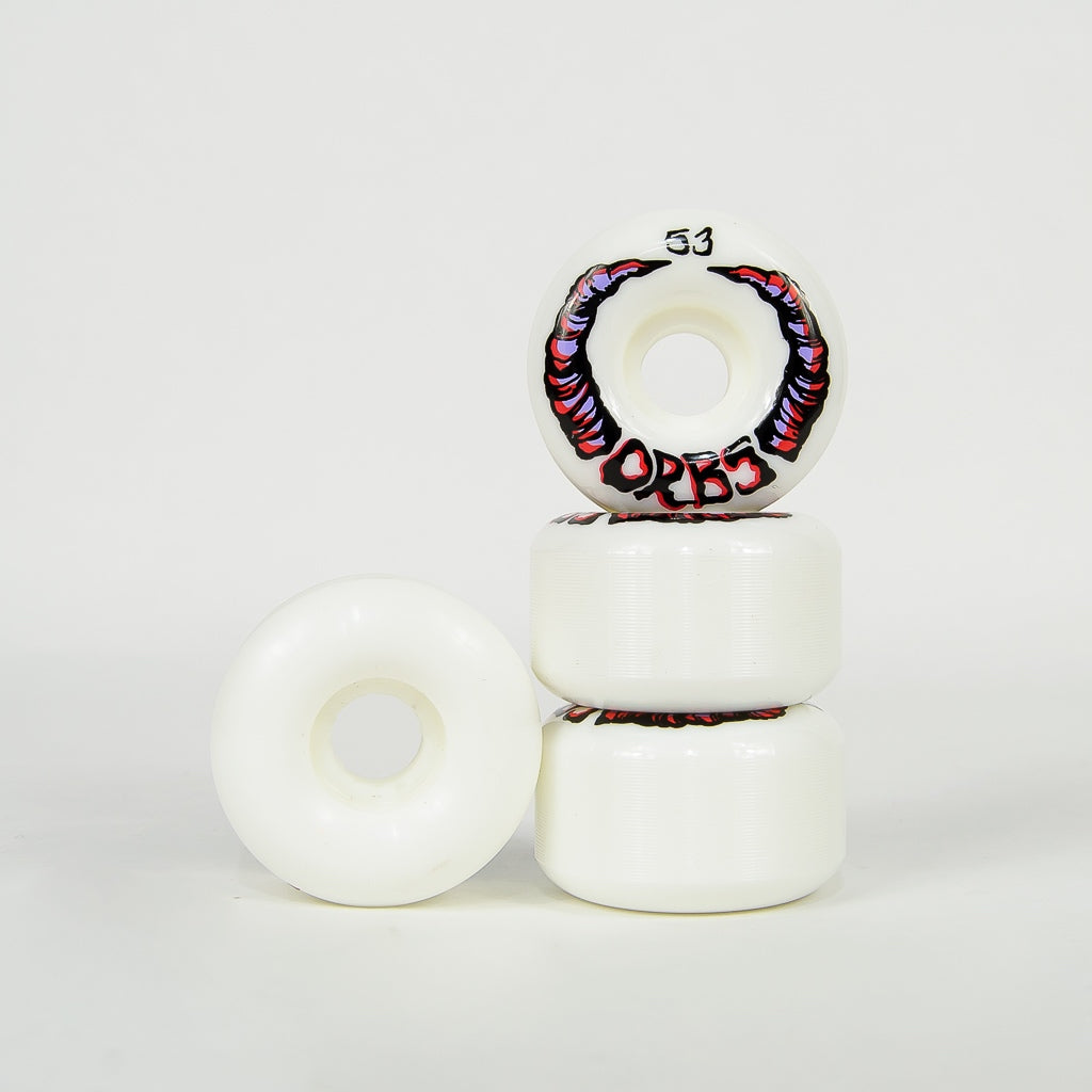 Welcome Skateboards - 53mm (99a) Orbs Apparitions Wheels - White
