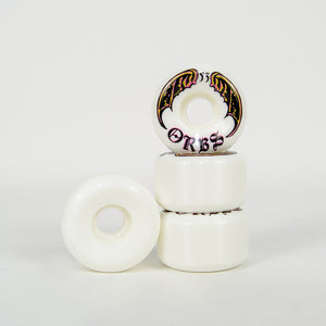 Welcome Skateboards - 53mm (99a) Orbs Specter Wheels - White