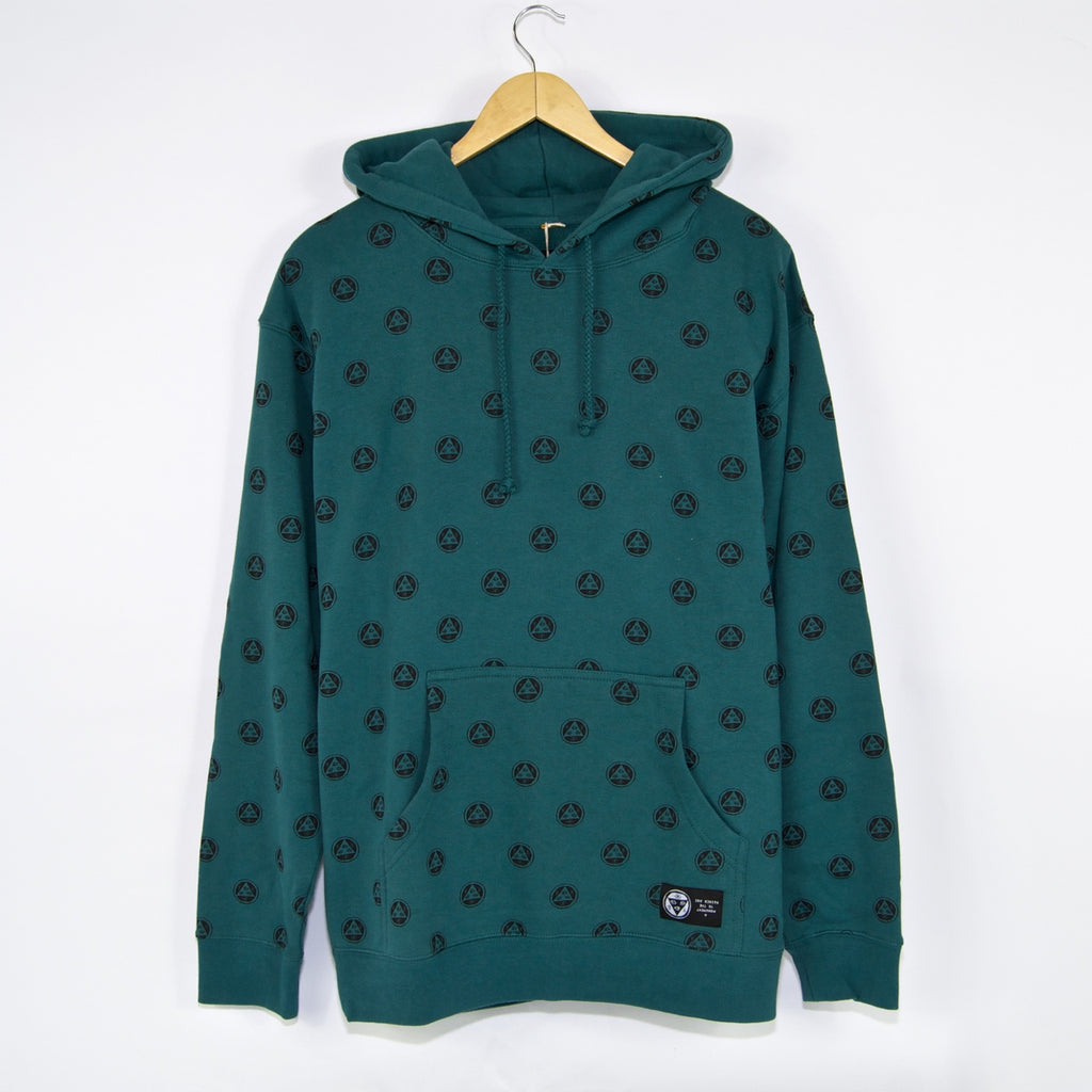Welcome Skateboards - Tali-Dot All-Over Print Pullover Hooded Sweatshirt - Teal / Black