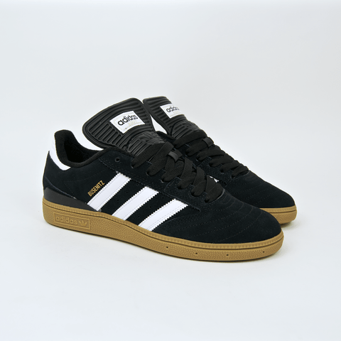 Adidas Skateboarding - Busenitz Shoes - Core Black / Footwear White / Gold Metallic