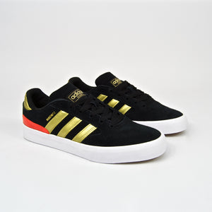 Adidas Skateboarding - Busenitz Vulc 2 Shoes - Core Black / Gold Metallic / Solar Red