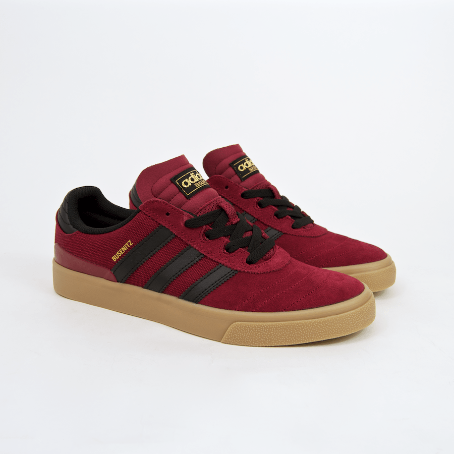 Adidas Skateboarding - Busenitz Vulc Shoes - Collegiate Burgundy / Core Black / Gum