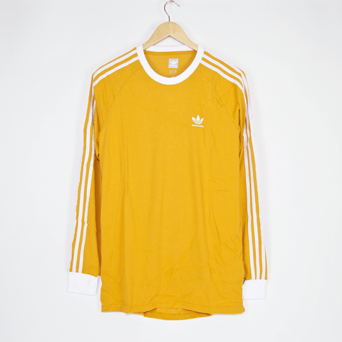 Adidas Skateboarding - California 2.0 Longsleeve T-Shirt - Tacyel Yellow / White