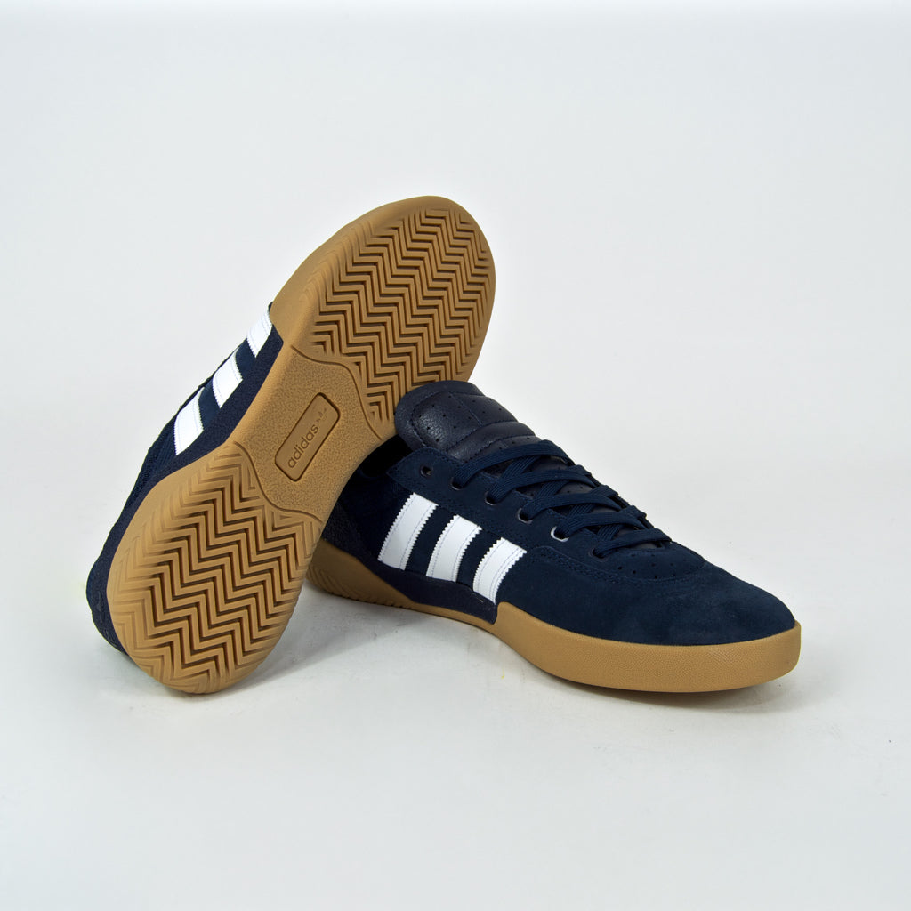 Adidas Skateboarding - City Cup Shoes - Collegiate Navy / Footwear White / Gum