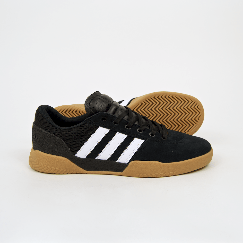 Adidas Skateboarding - City Cup, Core Black/White/Gum - Sneakers