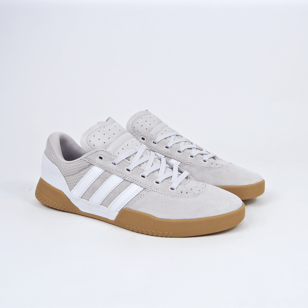 Adidas Skateboarding - City Cup Shoes - Crystal White / Chalk Pearl / Gum