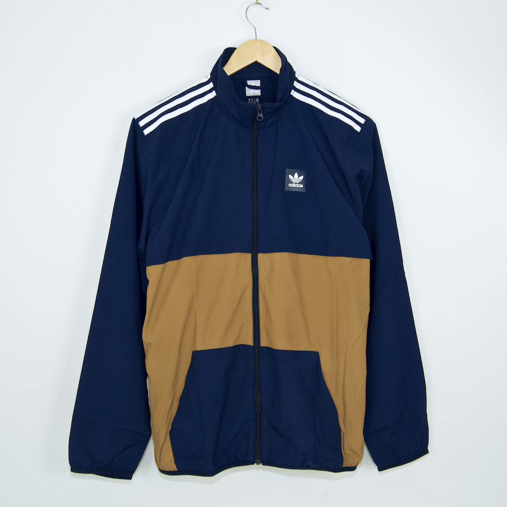 Adidas Skateboarding - Class Action Jacket - Collegiate Navy / Raw Desert / White