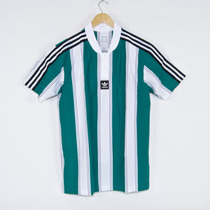 Adidas Skateboarding - Clatsop Jersey - Action Green / White / Action Purple