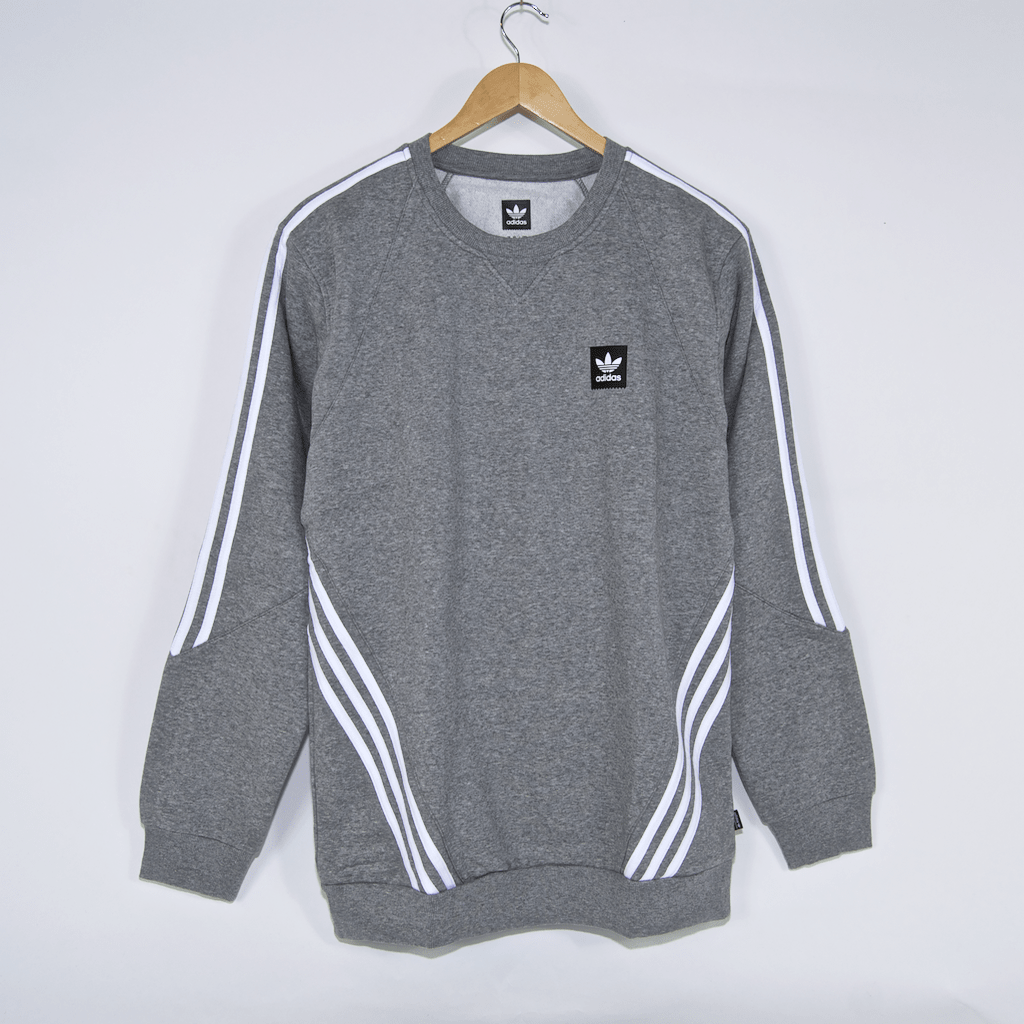 aacf3b90866c Welcome Skate Store Adidas Skateboarding Insley Crewneck Sweatshirt Heather Grey White 1 1024x1024.png v 1548427549
