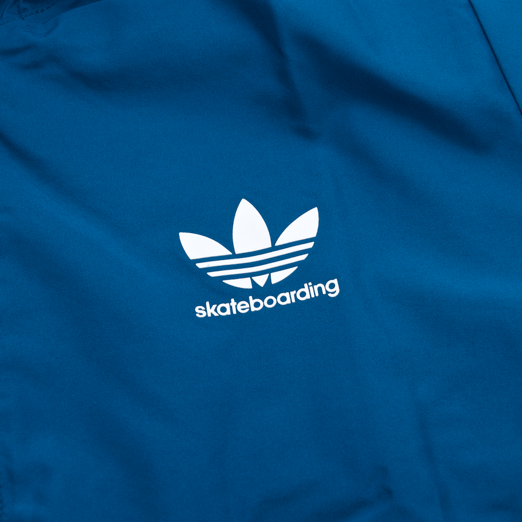 Adidas Skateboarding - Premiere Windbreaker Jacket - Real Teal / Collegiate Navy / White