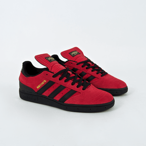 Adidas Skateboarding - Rodrigo TX Busenitz Shoes - Scarlet Red / Black / Gold Metallic