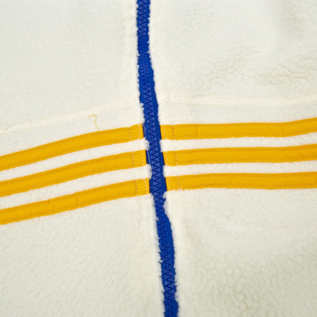 Adidas Skateboarding - Sherpa Full Zip Jacket - Cream / Yellow / Blue