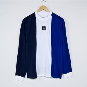 Adidas Skateboarding - Tripart Longsleeve T-Shirt - Navy / White / Royal Blue