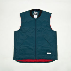 Adidas Skateboarding - Workwear Vest Jacket - Viridian / Power Red / Noble Indigo