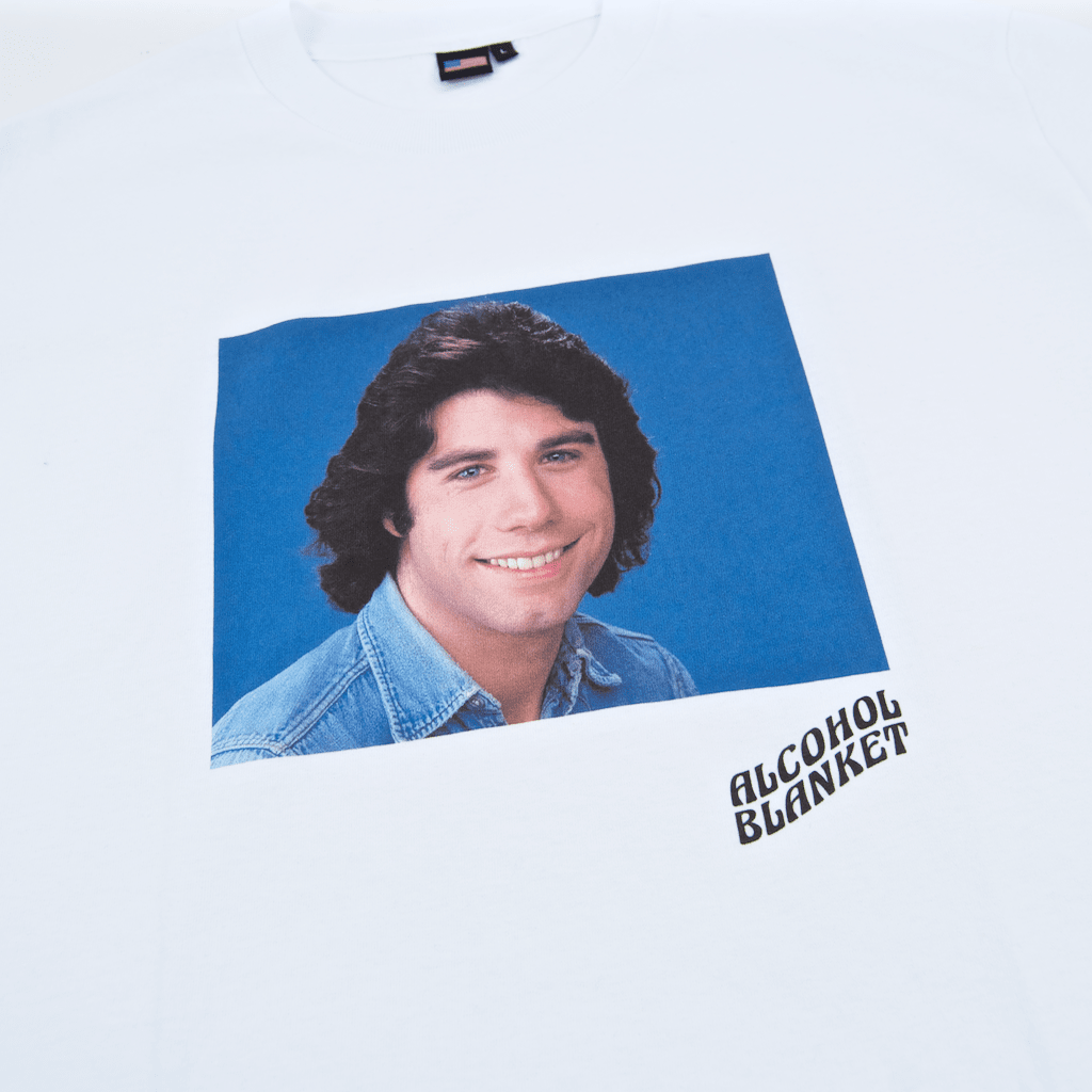 Alcohol Blanket - John Travolta T-Shirt - White