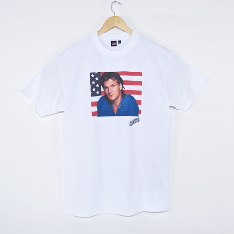 Alcohol Blanket - Patrick Swayze T-Shirt - White