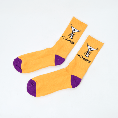 Alltimers - Action Logo Socks - Peach