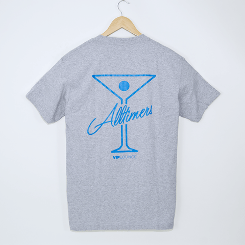 Alltimers - Logo T-Shirt - Grey / Blue