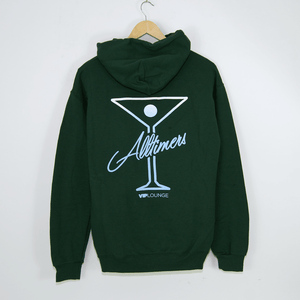 Alltimers - Puff Classic Logo Pullover Hooded Sweatshirt - Forest Green